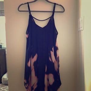 ASTR Butterfly Cut Sheer Dress w/ Slip